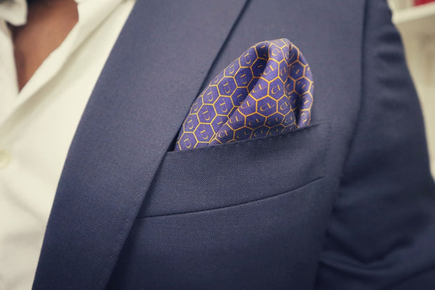 Gentlemen's silk pocket square