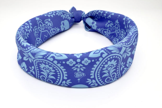 Silk blue bandana