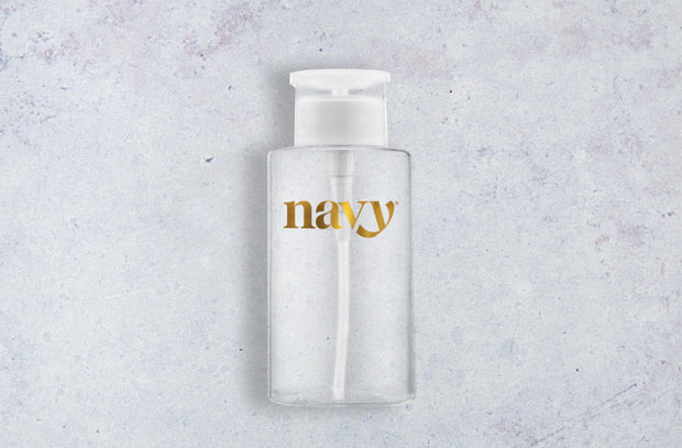 NEW Navy Refillable Pump Bottle