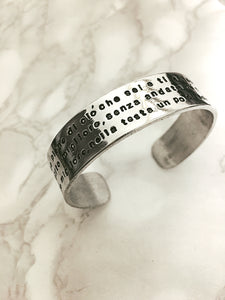Cuff bracelet long message 1.5 cm