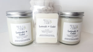 Lavender and Cedar Natural Soy Candle