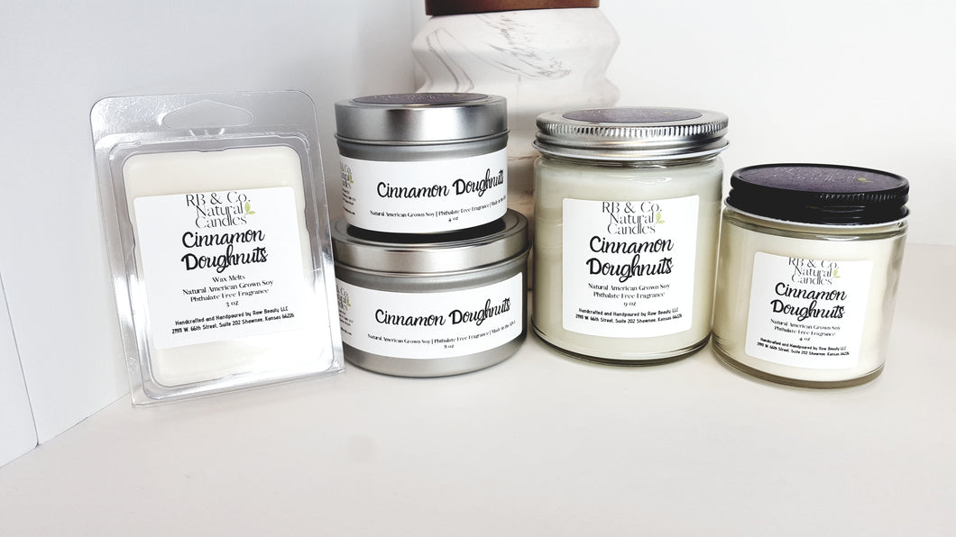 Cinnamon Doughnuts Natural Soy Candle