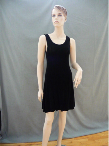 black a frame semi sheer stretch dress