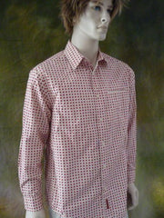 Mens Vintage Cranberry n' Cream Dress Shirt