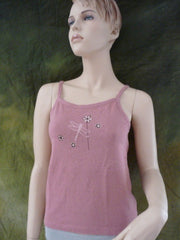 Fly Flower on Organic Tank Top
