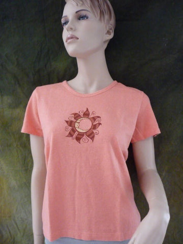 Moon Flower Scoop Neck T-Shirt