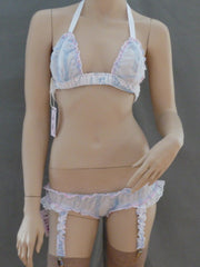 Sheer Abstract Triangle/Top Garter Set