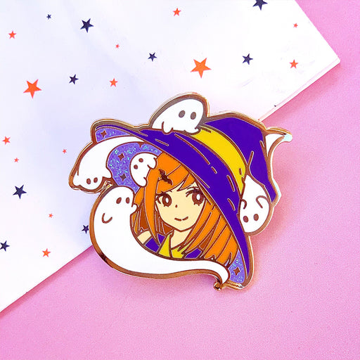 Ghost Witch Girl Pin