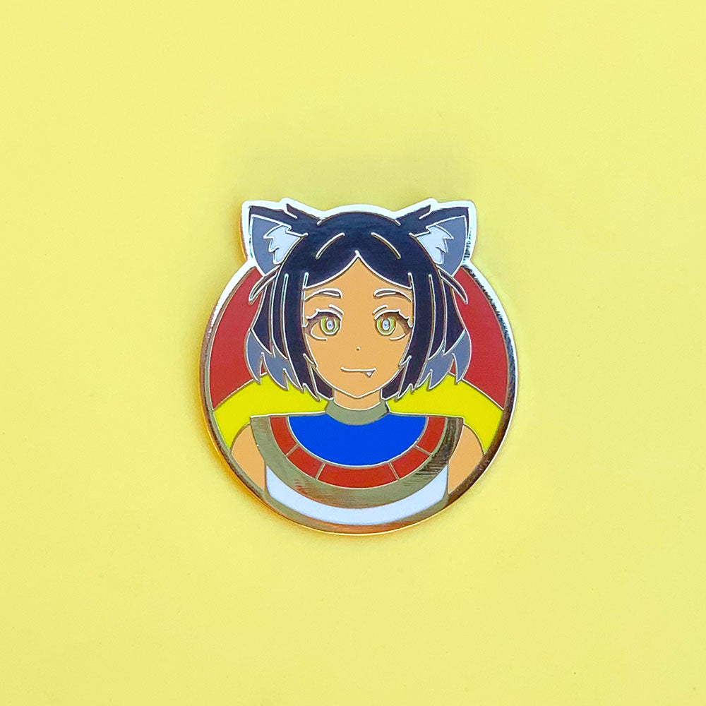Egyptian Cat Girl Pin