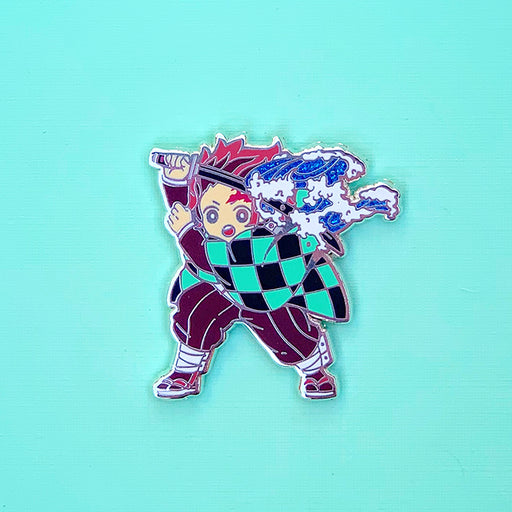 Boy with Hanafuda Earrings Pin