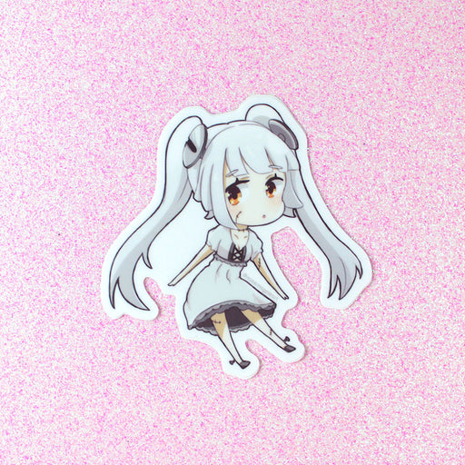 cute undead frankenstein anime girl sticker
