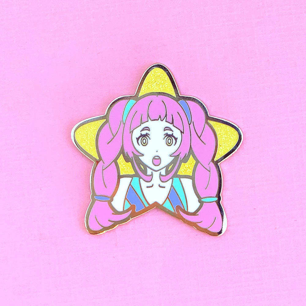 Pink Star Girl Pin