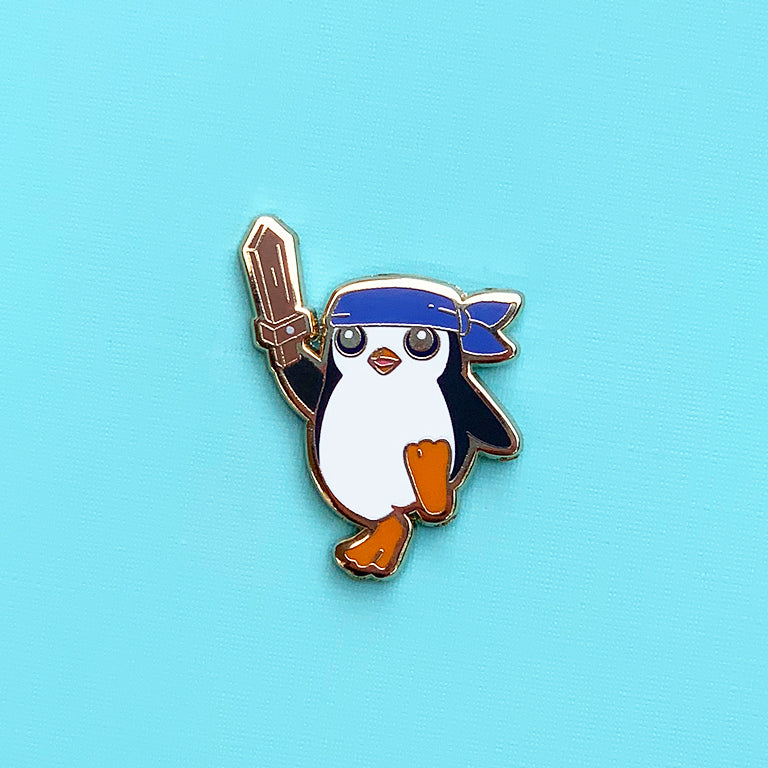 Pengu Featherknight Pin