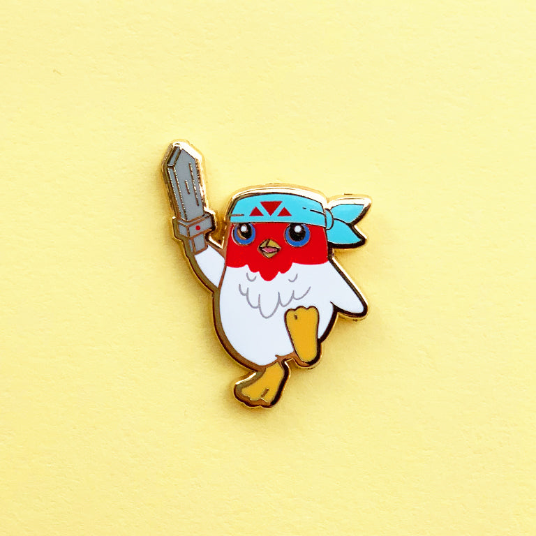 Extra Spicy Featherknight Pin
