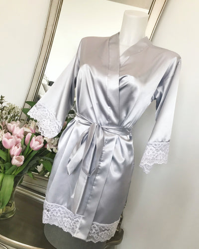 Lucy Amber Lingerie Silver Isabelle Robe