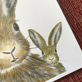 Square Trio of Hares Rabbits Luxury Plain Notebook Sketch Book by English Graphics