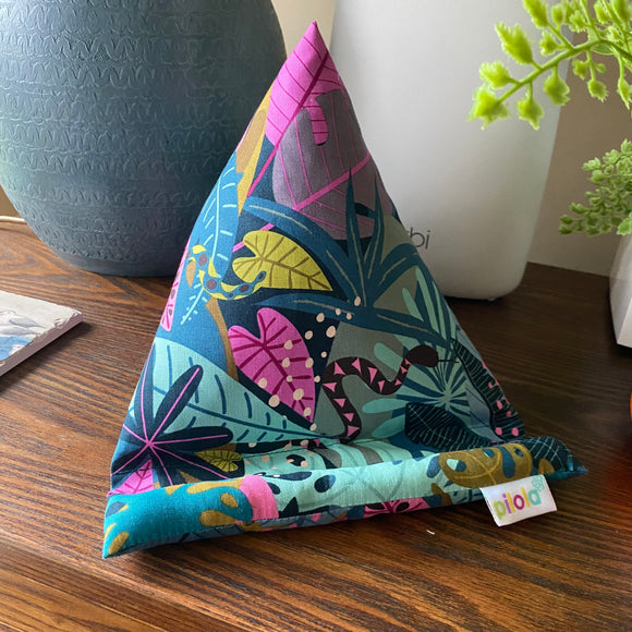 Pilola Techcushion Bright Jungle Pattern Pillow Stand Holder Cushion