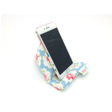 Pilola Techcushion Cath Kidston Pink Roses on Blue Floral Pillow Stand Holder Cushion