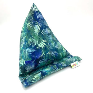Pilola Techcushion Blue Green Fern Pattern Pillow Stand Holder Cushion