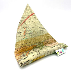 Pilola Techcushion World Map Print Pillow Stand Holder Cushion
