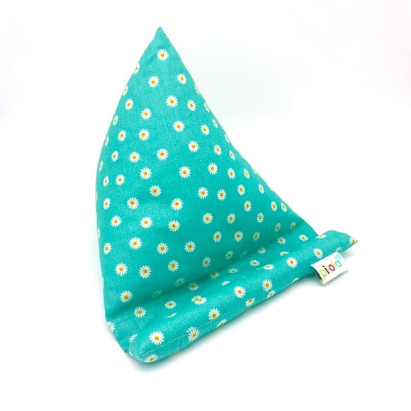 Pilola Techcushion Aqua Daisy Pattern Pillow Stand Holder Cushion