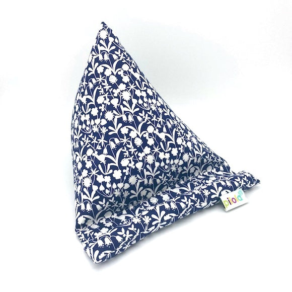 Pilola Techcushion Navy & White Hedgerow Fabric Pillow Stand Holder Cushion