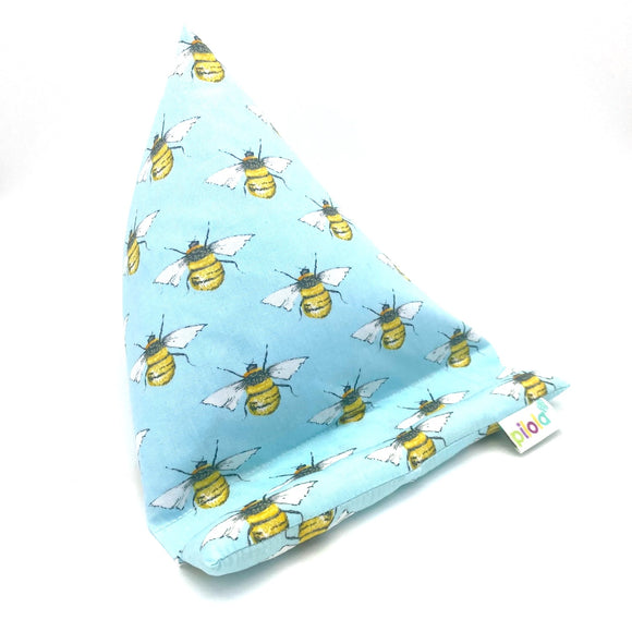 Pilola Techcushion Sky Blue Bee Pattern Pillow Stand Holder Cushion