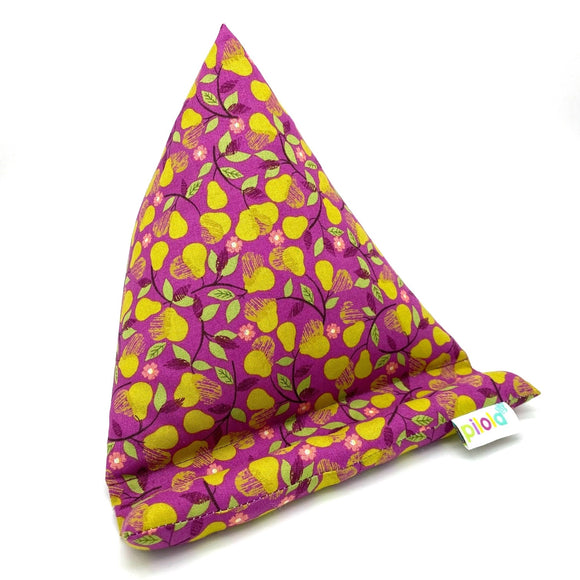 Pilola Techcushion Mustard Pear Magenta Pattern Pillow Stand Holder Cushion