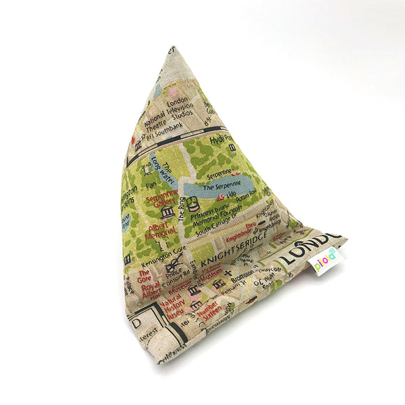 Pilola Techcushion London Map Pattern Pillow Stand Holder Cushion Rest