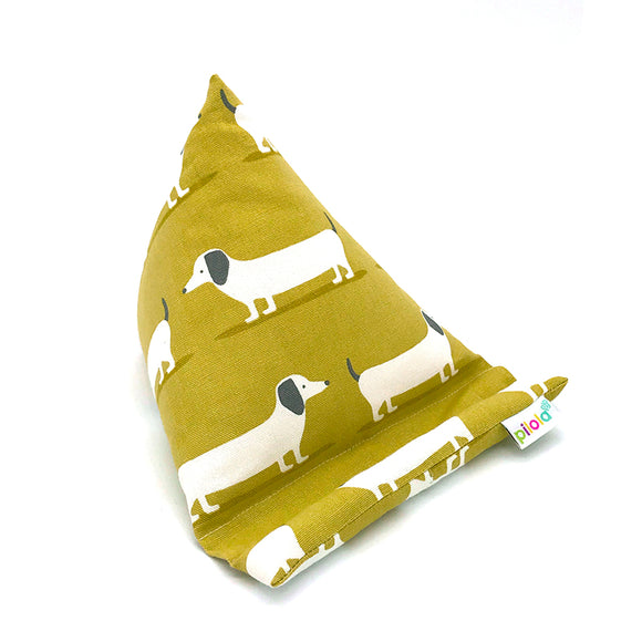 Pilola Techcushion Mustard Dachshunds Pillow Stand Holder