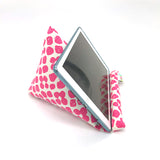 Pilola Techcushion Hot Pink Potato Print Pattern Pillow Stand Holder Cushion Rest