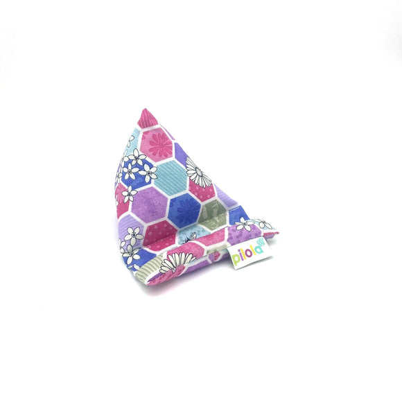 Pilola Techcushion Pastel Hexagon Bee Pattern Pillow Stand Holder Cushion