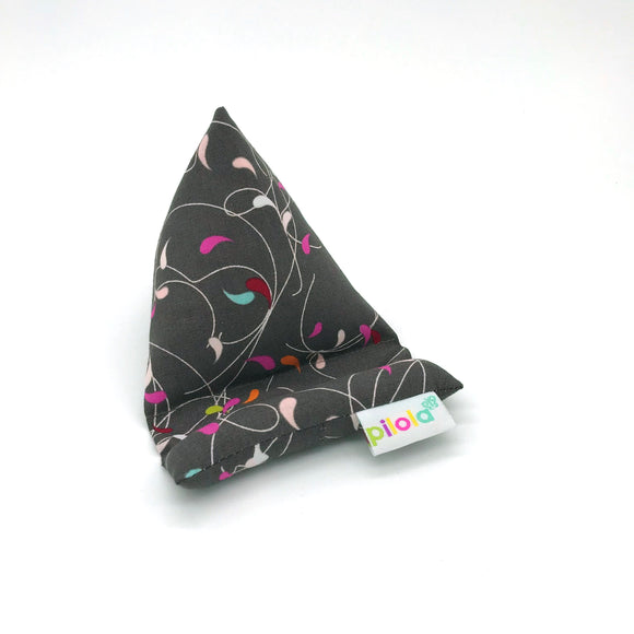 Pilola Techcushion Multi Coloured Pattern on Grey Pillow Stand Holder Cushion