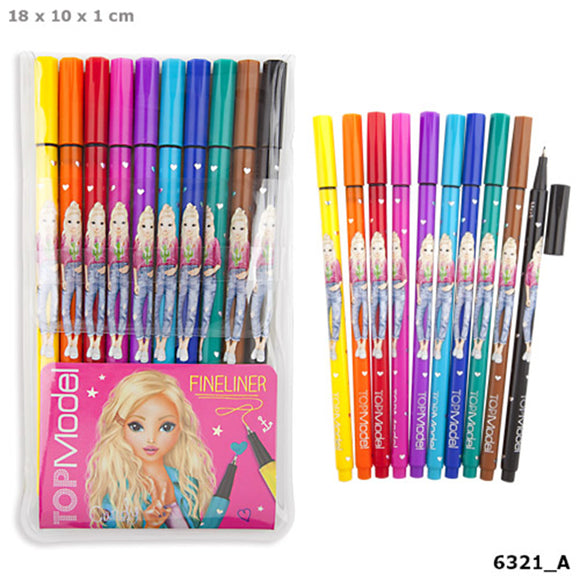 Top Model Fineliner Colouring Pen set by Depesche