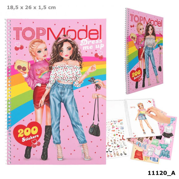 TOPModel Dress Me Up Sticker Book Cherry Bomb by Depesche