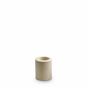 Marmoset Found Ribbed Infinity Candle Holder Cream Medium