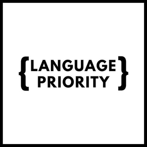 Language Priority
