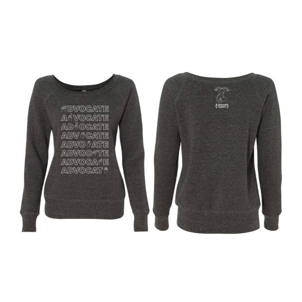 ADVOCATE Wide Neck Sweatshirt (Sponge Fleece)