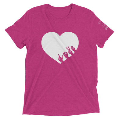 L-O-V-E Short Sleeve Tee (Triblend)