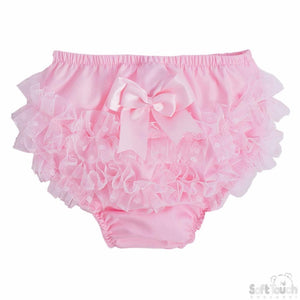 Pink frilly pants with big bow