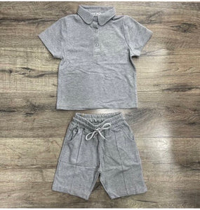 Boys polo top and short set (various colours)