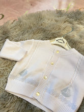Load image into Gallery viewer, White baby blue cardigan sarah louise 8149
