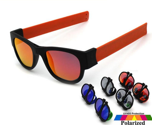Polarized Orange Slap Wrist Sunglasses