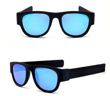 Load image into Gallery viewer, Polarized Blue with Black Slap Wrist Sunglasses