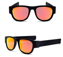 Load image into Gallery viewer, Polarized Orange with Black Slap Wrist Sunglasses