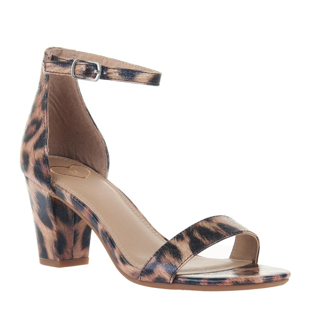 CARPE DIEM in LEOPARD Heeled Sandals-CARPE DIEM in LEOPARD Heeled Sandals. Wardrobe staple sandal, check. Carpe Diem in leopard just might be the wildest MADELiNE sandal yet. Women's heeled sandal Crafted with animal friendly vegan leathers Adjustable ankle strap 3.15