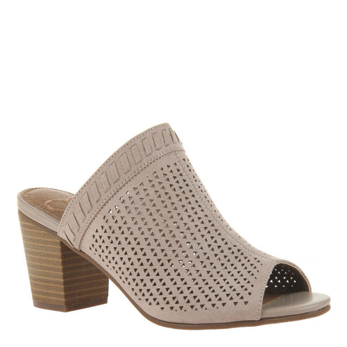 ELIXIR in MEDIUM TAUPE Mules-Live the life of a trendy urbanite in Elixir in medium taupe. This classic slide-on mule features fun perforated materials for a look that's oh-so summer chic. Slip on with your favorite denim or rock with a summer dress for the ultimate fashion statement. Block heel. Perforated design. New Arrivals!-East Coast She, South Carolina