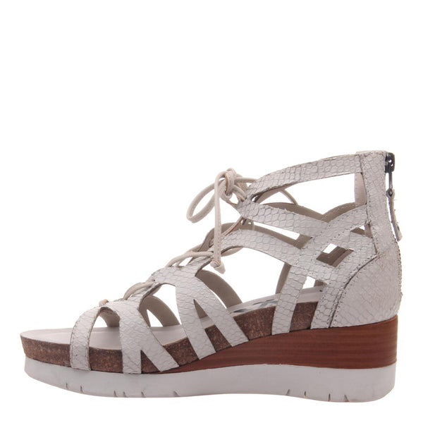 OTBT - ESCAPADE in SPORT WHITE Wedge Sandals-East Coast She, South Carolina