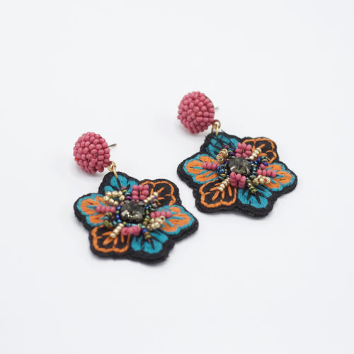 Fannie Flower Earrings-We provide you with the worlds best quality affordable jewelry and earrings. Complete your outfit with our collection of stylish and sophisticated jewelry for all of your occasions. Earrings for your casual outfits. Affordable, top selling stud, post, hoop, dangle, drop, acrylic, and tassel. -East Coast She, South Carolina