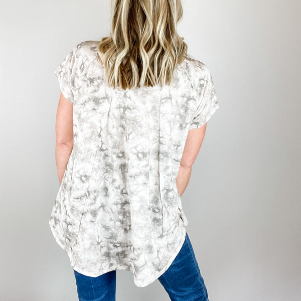 Esma Tie-Dye Printed Top-Find your perfect casual tops by searching our collection of women's tops online today! Shop trendy tanks, blouses, tees, bodysuits and more. New items added daily. Tops for women.-East Coast She, South Carolina